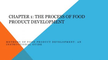 Methods of food product development - chapter one